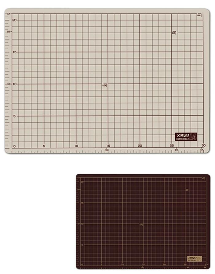 日本OLFA 雙面裁墊灰褐+咖啡色雙面切割墊 ( 134B暨CM-A4-B )