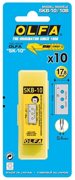 日本OLFA 拆箱刀替刃開箱刀刀片 ( SKB-10/10B )