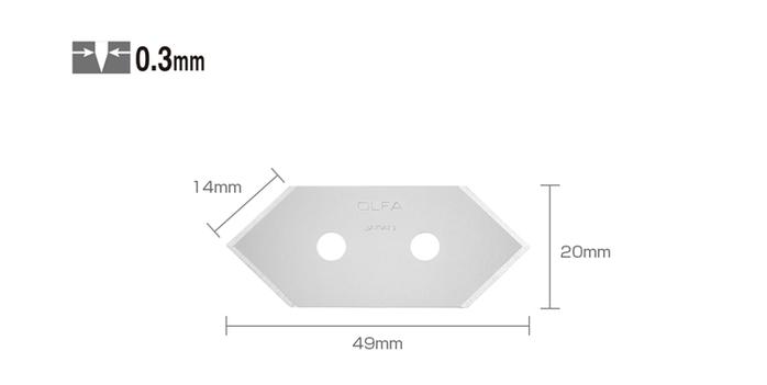 日本OLFA|斜角刀刀片邊框刀替刃 ( MCB-1 )