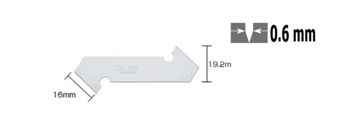 日本OLFA|壓克力刀刀片膠板切割刀片 ( PC-L專用刀片 ; PB-800 )