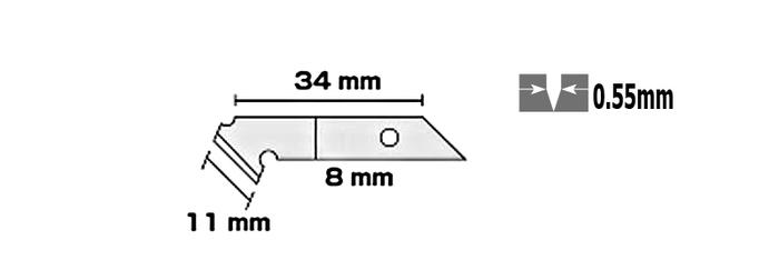 日本OLFA|壓克力刀刀片膠板切割刀片 ( PC-S專用刀片 ; PB-450 )