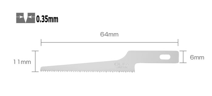 日本OLFA|鋸板刀片筆刀刀片 ( AK-4專用 ; KB4-NS/3 )