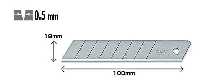 日本OLFA|折斷式刀片替刃18mm大型美工刀刀片 ( LB-10 )