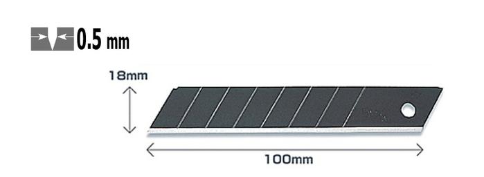日本OLFA|折斷式替刃黑刃刀片 ( 50片裝 ; LBB-50 )