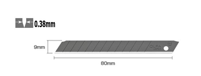 日本OLFA|折斷式刀片黑刃美工刀片 ( 50片裝 ; ABB-50 )