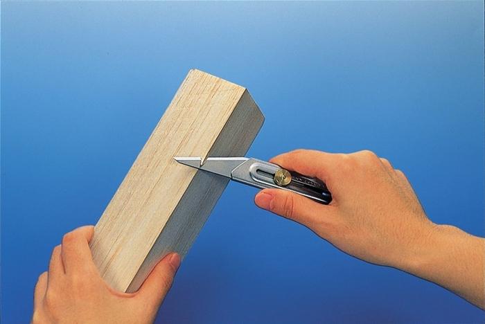 日本OLFA 不鏽鋼工藝刀木工刀Craft Knife嫁接刀尖尾刀 ( CK-2 )