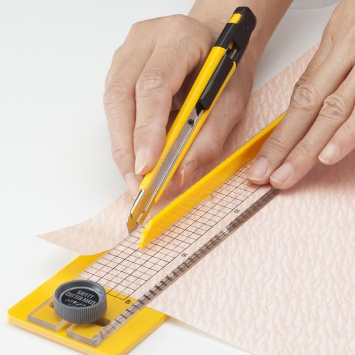 日本OLFA|切割組合壓克力直尺裁切器裁切靠板切割尺 ( 176B )