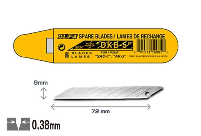 日本OLFA|折斷式刀片替刃30°折刃美工刀片 ( 寬9mm ; DKB-5 )