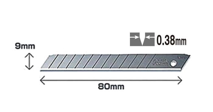 日本OLFA|折斷式刀片替刃折刃刀片刀片 ( 含收納盒 ; AB-10S )