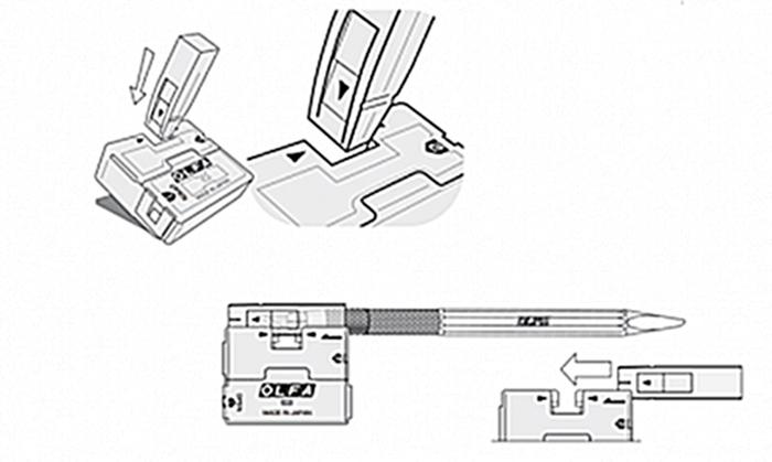 日本OLFA|筆刀替刃30度筆刀刀片 ( KB-5/30B )