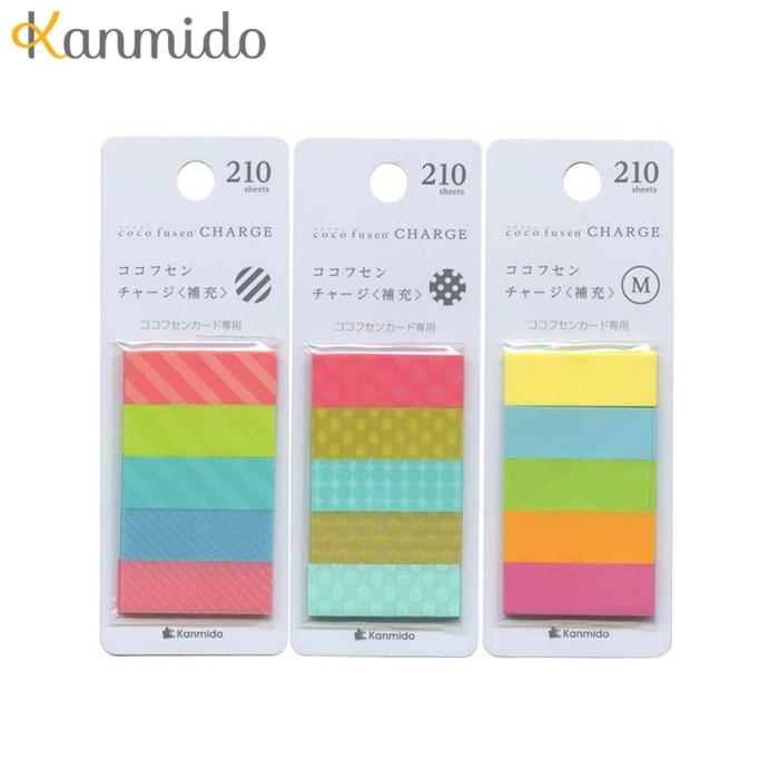 日本Kanmido|卡片標籤貼補充包 ( CF-5101素面/CF-5401條紋/CF-5301圓點 )