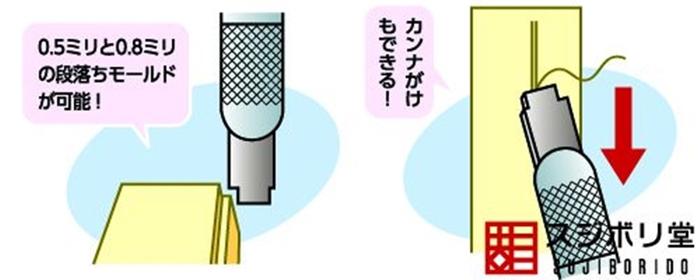(複製)日本SUJIBORIDO|段差筆刀1.0/1.5mm直角刀