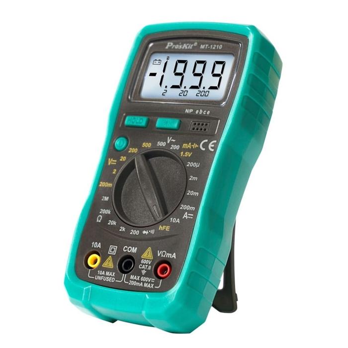 台灣Pro'sKit寶工|3 1/2數位電錶 附電池 ( MT-1210  )