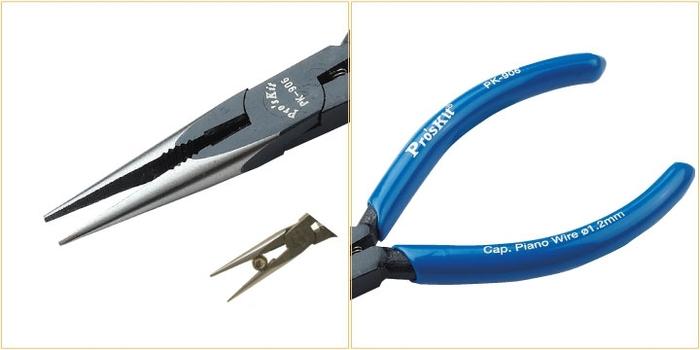 台灣Pro'sKit寶工| 鉻釩鋼強力有牙細尖嘴鉗 ( 8PK-906A )