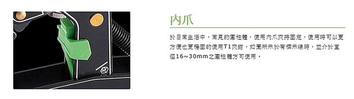 台灣製造TAKEWAY|T1鉗式腳架之主體配件內爪 ( T-IJ01 )