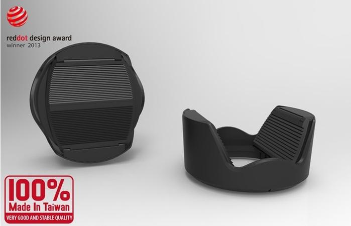 台灣HOOCAP|二合一鏡頭蓋兼遮光罩( 相容Panasonic遮光罩H-FS014042 ; M6652C )