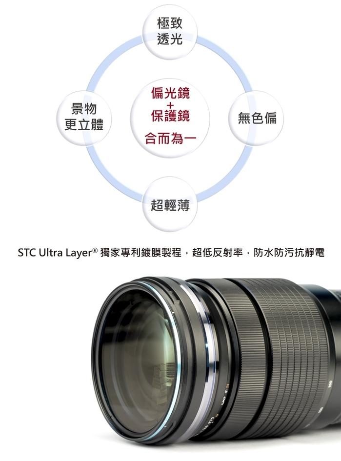 台灣STC|偏光鏡Hybrid CPL極致透光偏光鏡72mm ( Hybrid CPL 72mm )
