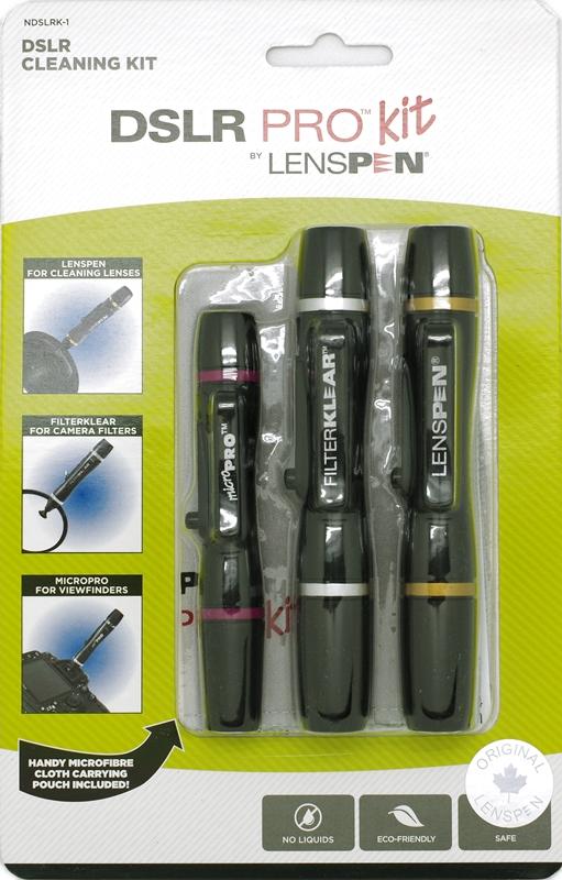 加拿大LENSPEN|拭鏡筆組含拭鏡布和鬃毛刷 ( 共三支筆 ; NDSLRK-1 )