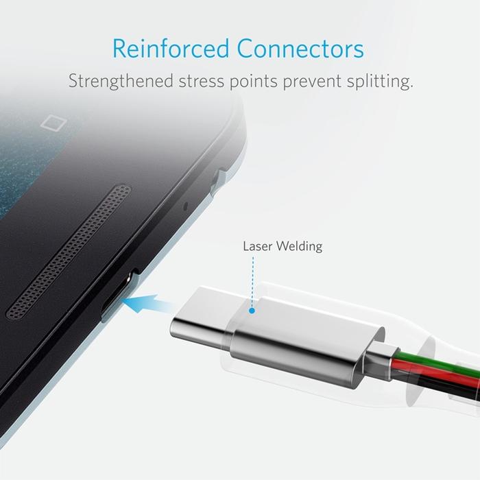 美國Anker PowerLine USB-C對USB 3.充電傳輸線2條 (長6ft即1.8公尺 ; B8166011 )