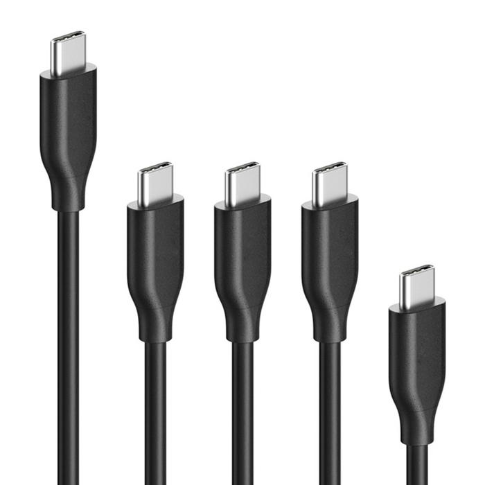 美國Anker|PowerLine USB 3.1轉USB-C充電傳輸線 (0.9公尺x3條、1.8公尺x1條、0.1公尺x1條 ; B8163015 )