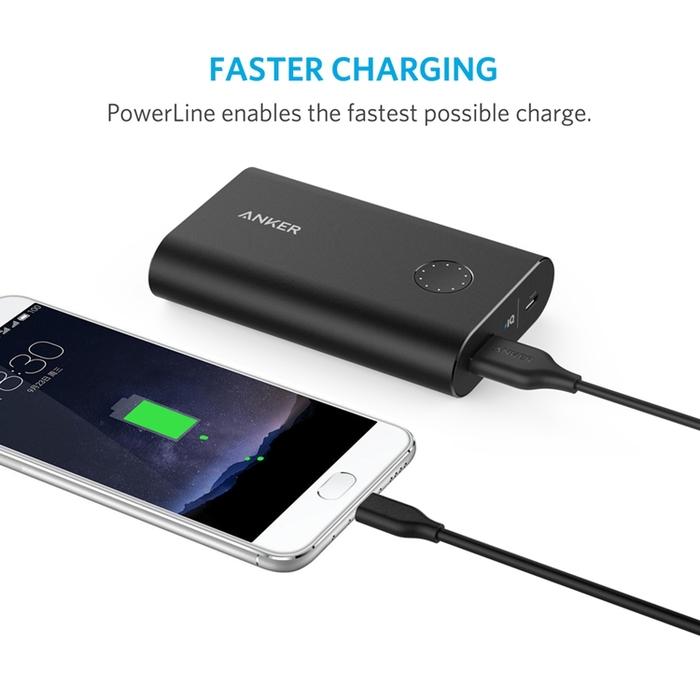 美國Anker|PowerLine USB 3.0/3.1轉USB-C充電傳輸線 ( 長3ft即0.9公尺 x3條 ; B8163013 )
