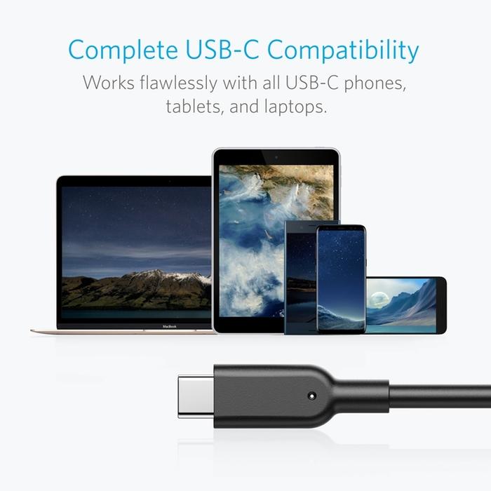 美國Anker|PowerLine II USB-C對USB3.1傳輸充電線 ( 長3ft即0.9公尺 ; A8465011 )