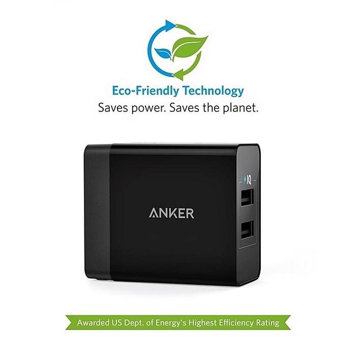 美國ANKER|24W 4.8A 2-Port智能PowerIQ充電器 ( 兩孔 ; A20211系列 )