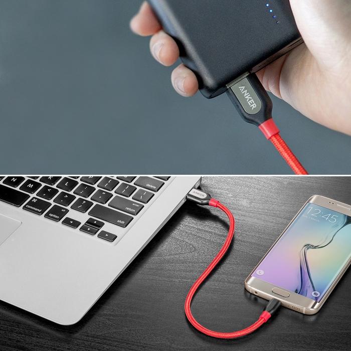 (複製)美國ANKER|PowerLine+ Micro USB/USB數據充電線 ( 長3ft即90公分 ; A81420系列 )