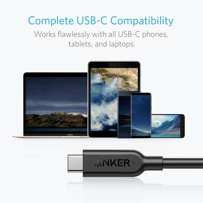 美國Anker|PowerLine II 傳輸充電線USB-C對USB-C ( 長3ft即0.9公尺 ; A84850系列 )