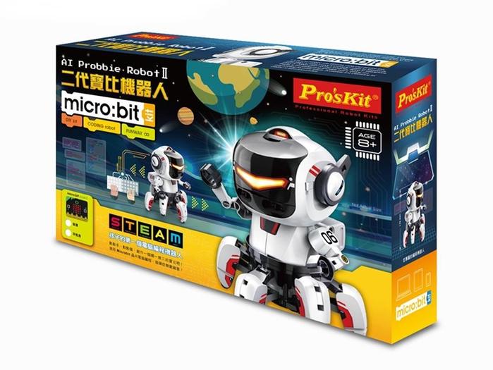 台灣Pro'sKit寶工|二代寶比機器人含BBC Micro:Bit電路板,可Javascript Blocks Python程式編程(GE-894)