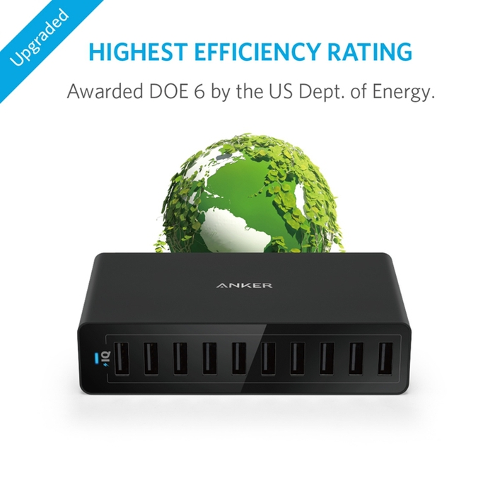 美國ANKER|60W 10-Port USB Wall Charger 10孔充電器  ( A21335系列 )