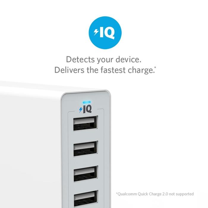 美國ANKER|60W 6-Port USB Wall Charger 6孔充電器 ( A21235系列 )