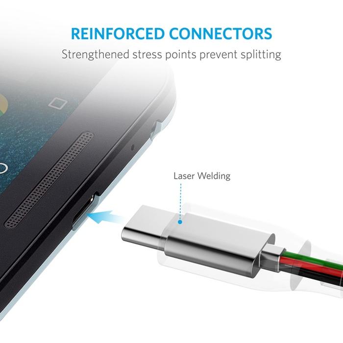 美國Anker|PowerLine Micro USB/USB數據充電線3條 ( 長3ft即90cm*3條 ; B8132016 )