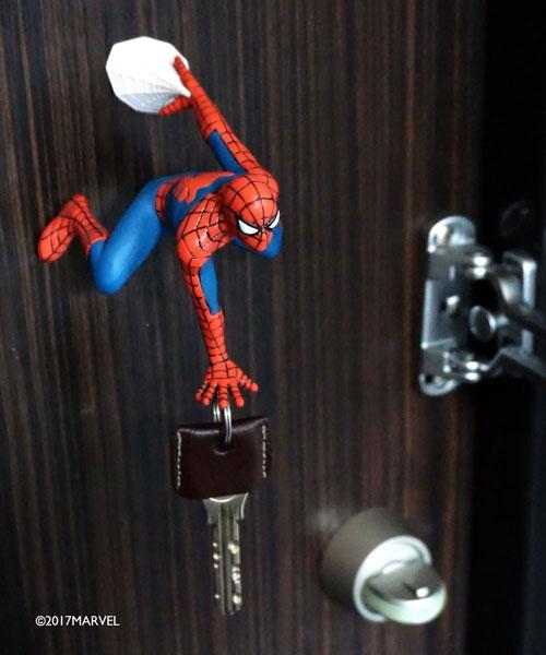日本Entrex|漫威授權MARVEL蜘蛛人SPIDERMAN磁性鑰匙掛勾 ( #14319 )