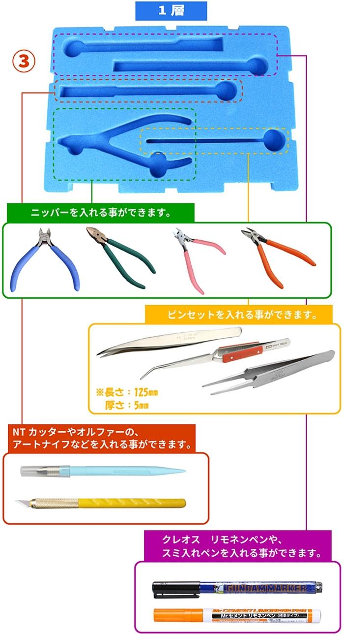 日本神之手GodHand|究極公仔模型工具收納盒 ( CH-TC-S )