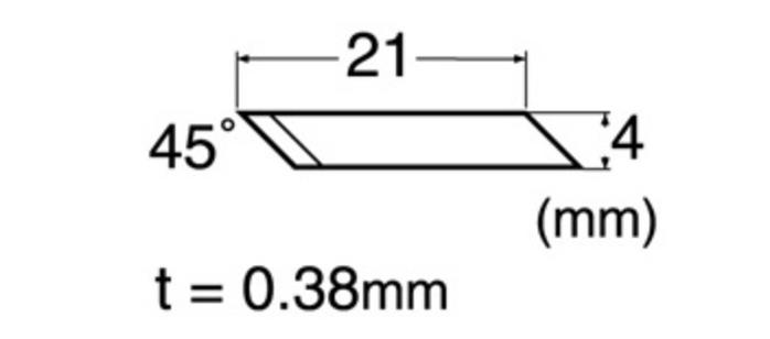 日本NT Cutter|筆刀替刃 筆刀刀片(45° 45度;40入; BDA-200P )