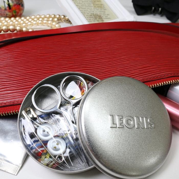 日本LEONIS|鐵罐隨身縫紉針線盒84601針線包