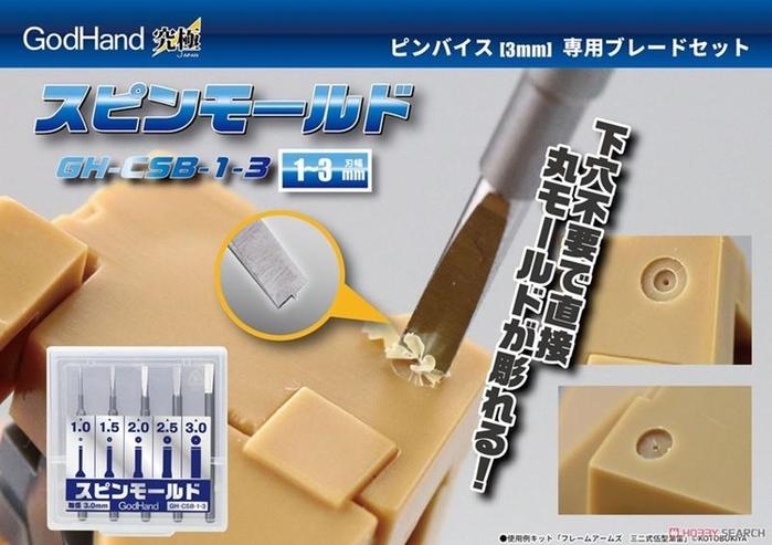 日本神之手GodHand|特殊刃物鋼高精度雕刻刀5入組 ( GH-CSB-1-3 )