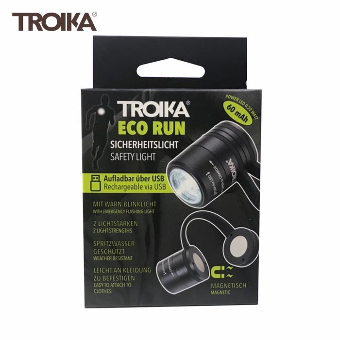 德國TROIKA|夾式磁鐵磁吸安全警示燈ECO RUN隨身照明燈超迷你手電筒 ( TOR90系列)