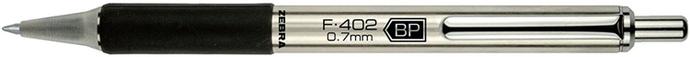 日本ZEBRA|減壓不鏽鋼原子筆附筆夾 ( F-402-0.7mm-BP )