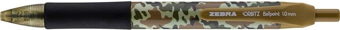 日本ZEBRA|速乾減壓1.0mm原子筆Orbitz Patriotic Collection ( 4支入, 21704 )