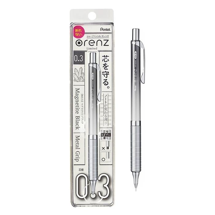 日本Pentel orenz煌金屬軸不斷芯自動鉛筆0.3mm鉛筆 (XPP1003G系列)
