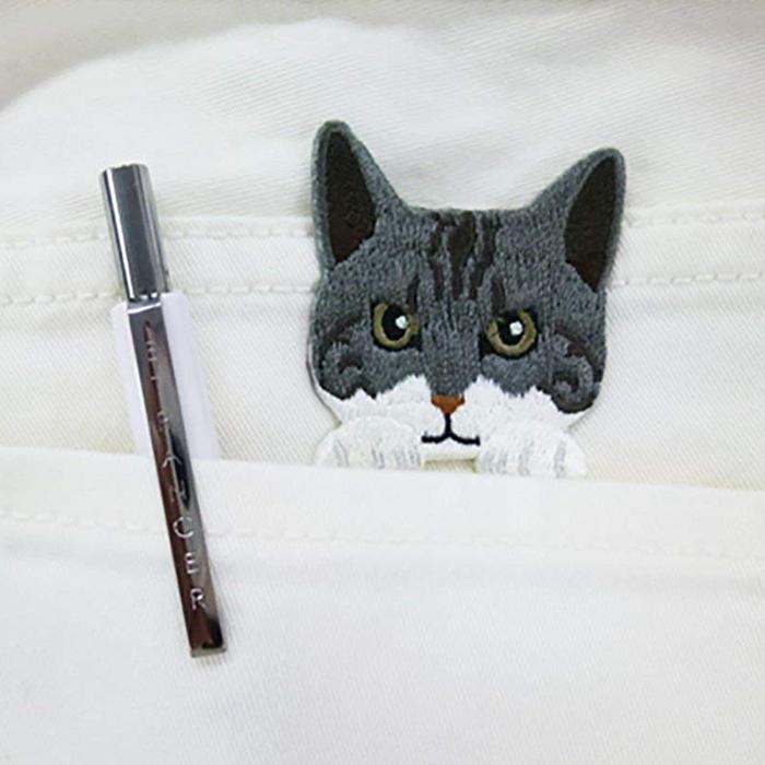 日本TOYO CASE|貓咪造型刺繡布貼 ( 日本平行輸入 ; SS-CAT系列 )