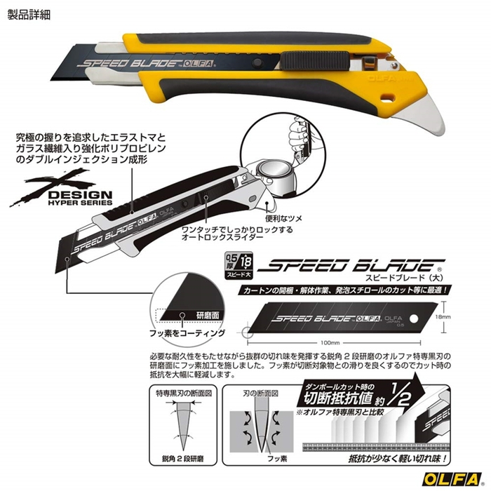 (複製)日本OLFA|五連發美工刀小型美工刀 ( (快速換刀片;品番191B MZ-S型;PA-2)