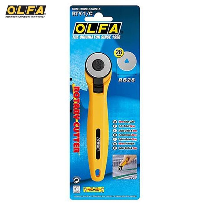 日本OLFA|割布刀拼布刀圓形刀圓刃刀 (28mm;RTY-1/C)