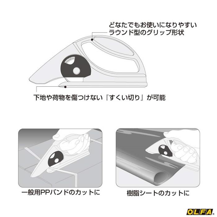 日本OLFA 切割地毯切割刀裝璜地毯切刀切布刀具 (45mm;45-C)