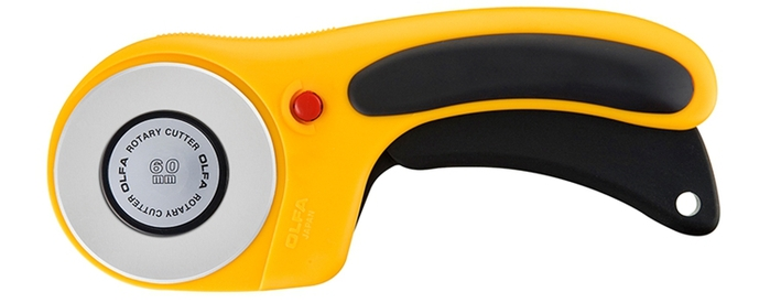 日本OLFA|豪華型滾輪式切割布刀拼布刀 (60mm;RTY-3/DX)