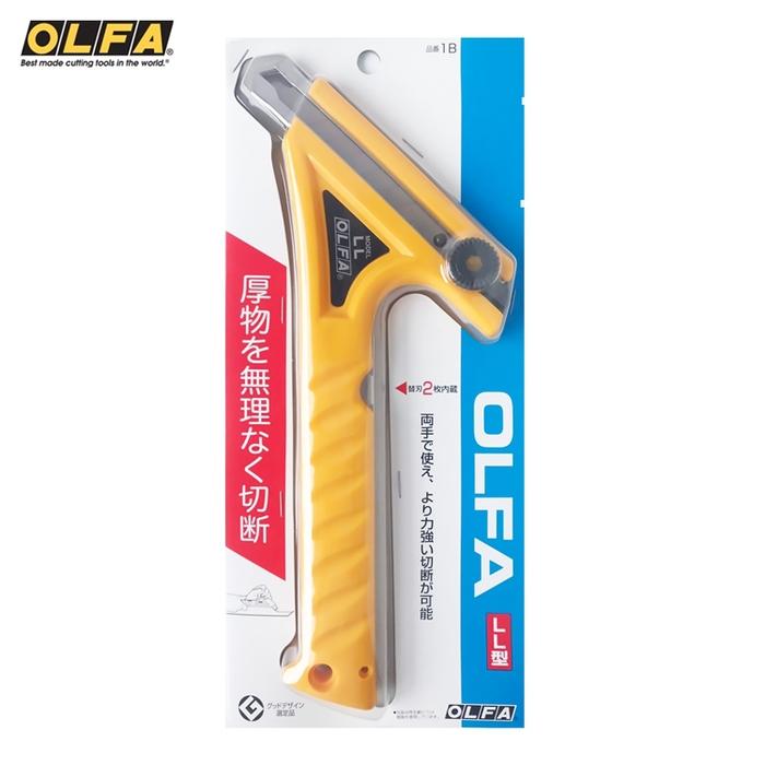 日本OLFA|省力長桿LL型大型美工刀長柄大型切割刀 (螺紋鎖18mm刀片;1B)