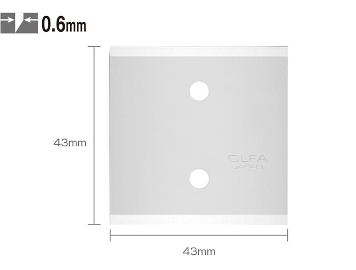 日本OLFA|高碳鋼皮革刀替刃刀片 (3片入,日本型號XB56;BTB-1)