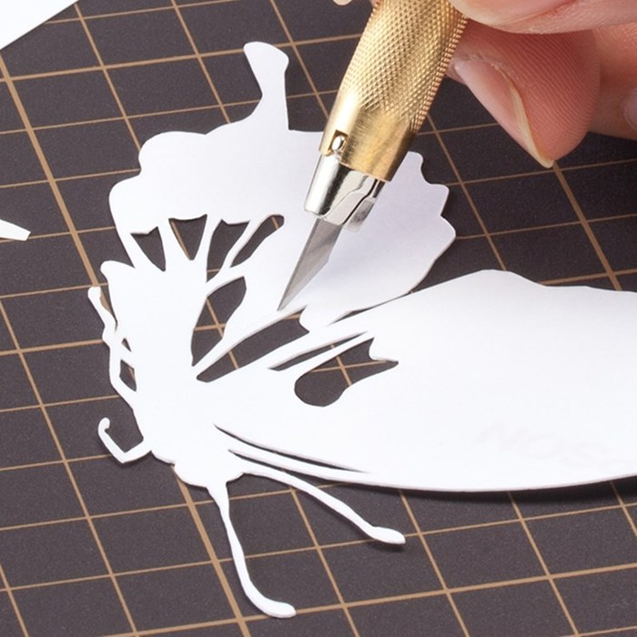 日本OLFA|專業筆刀等距刻線刀雕刻刀切割刀 (含5片替刃;同216BSY;AK-5/5B)